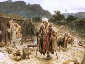 Four lepers, looting the camp of the Arameans